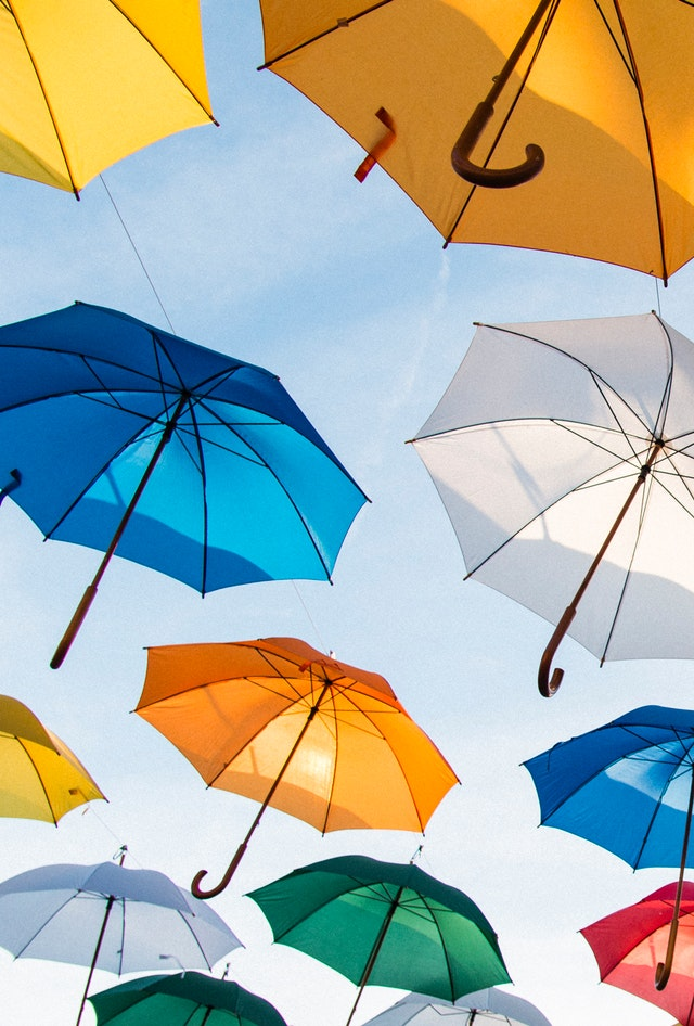 umbrellas-against-sky