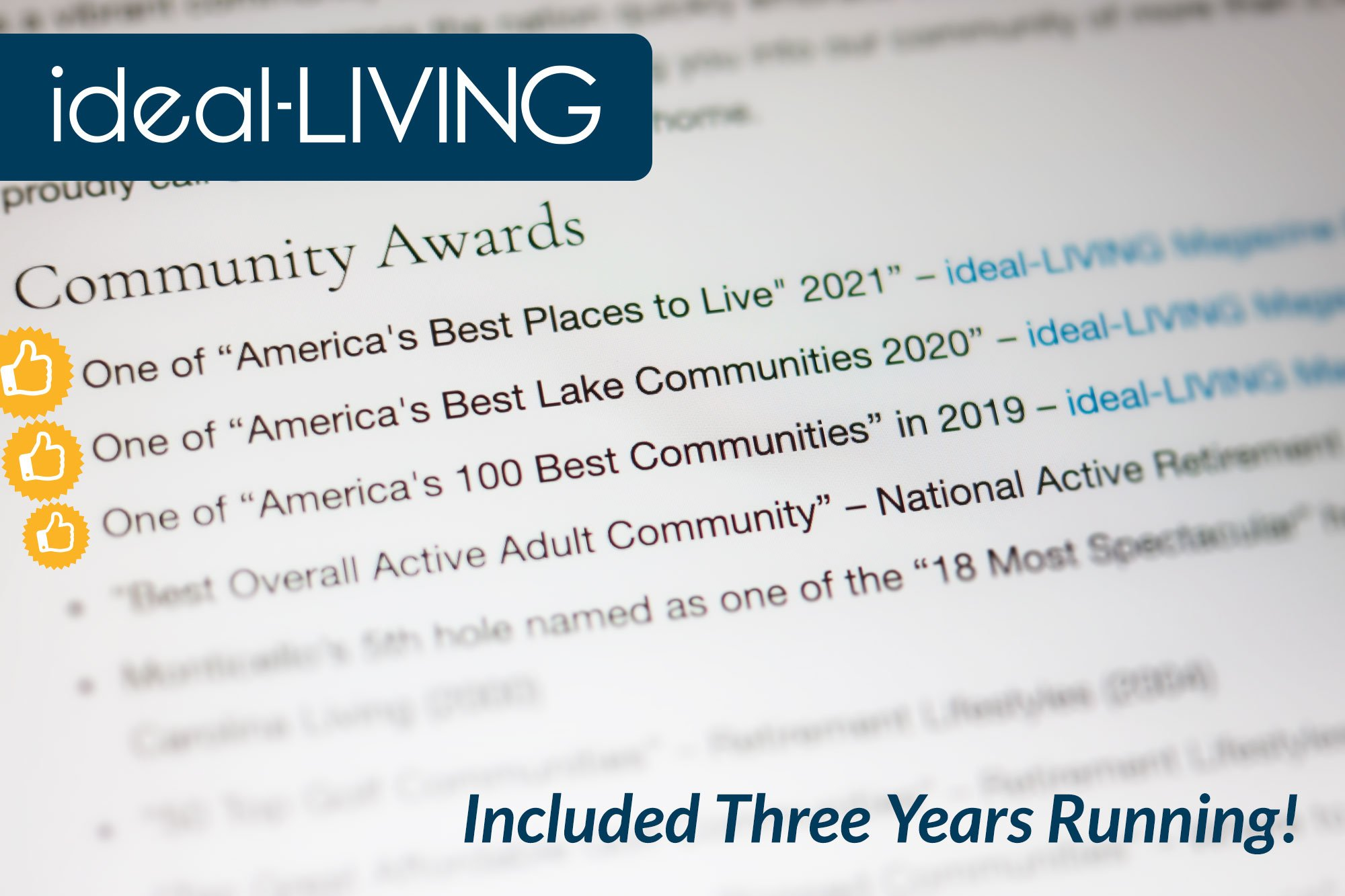 """SLV snags ideal-LIVING Magazine's """"Best Places"""" recognition three years running"""