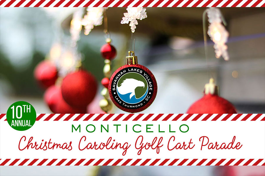 10th Annual Monticello Christmas Caroling Golf Cart Parade
